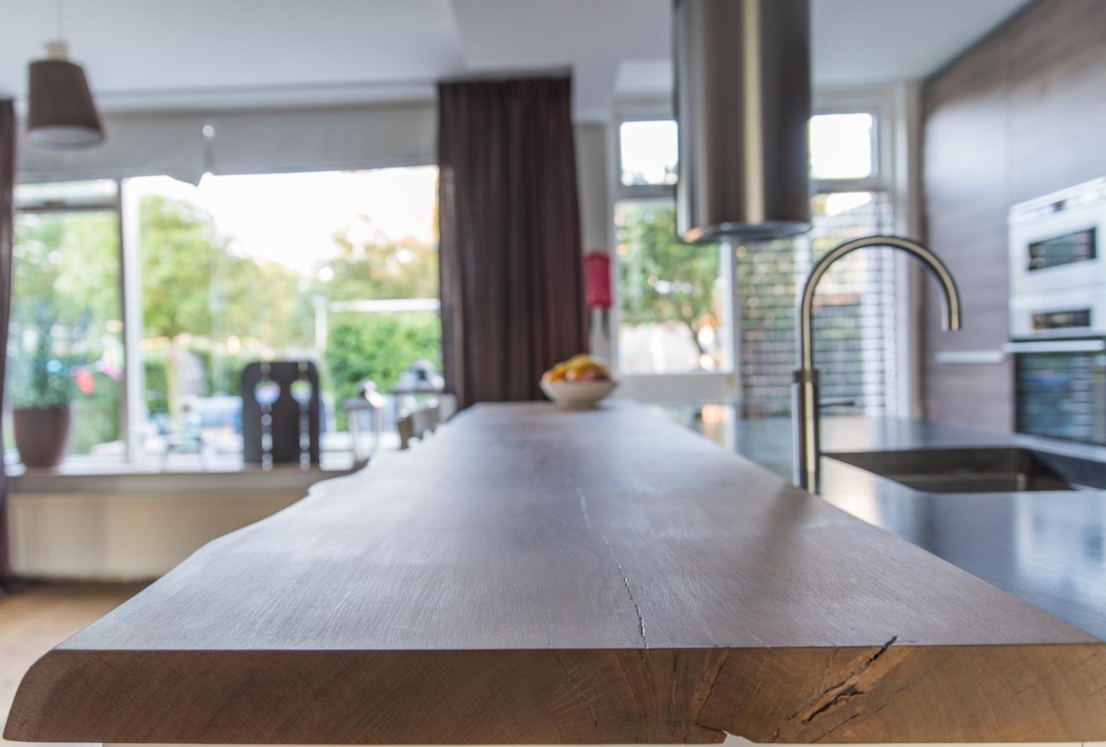 Eiken Keuken Gebruikt : Aanrechtblad van eiken Warner Interieur